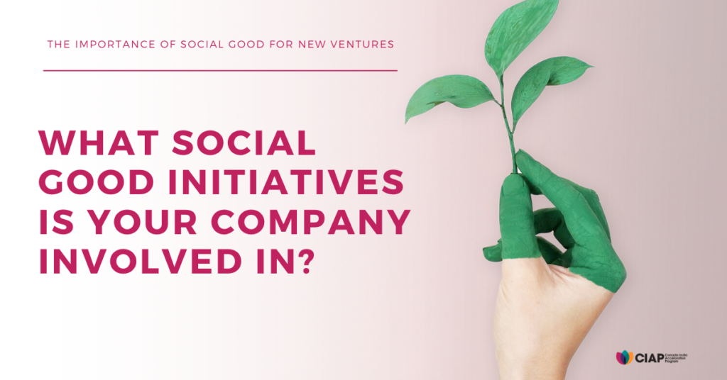 Social good initiatives