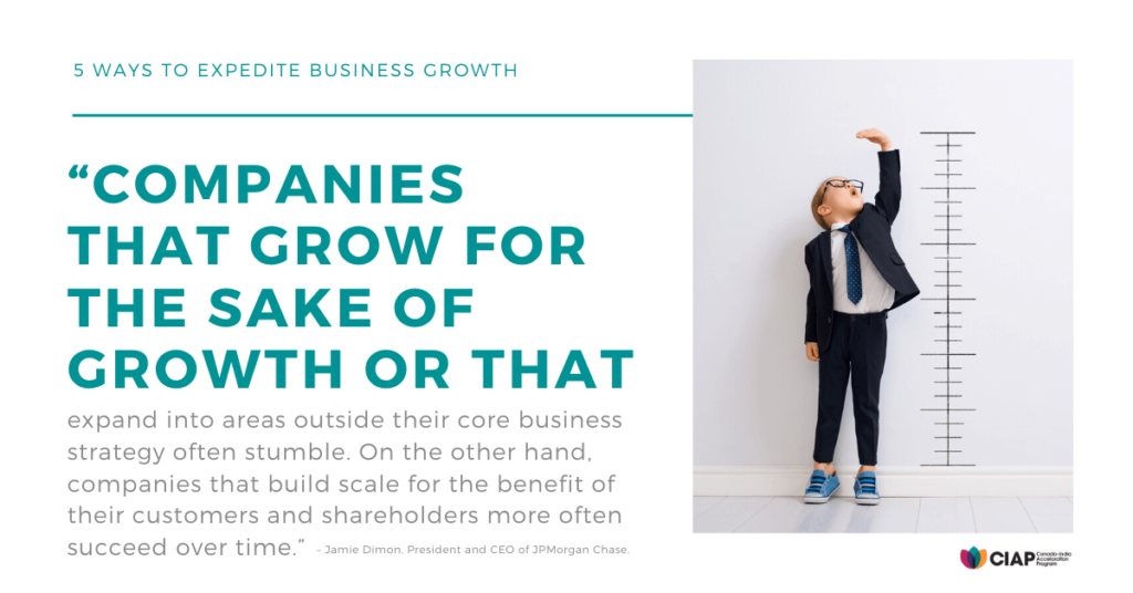 Companies that grow quote