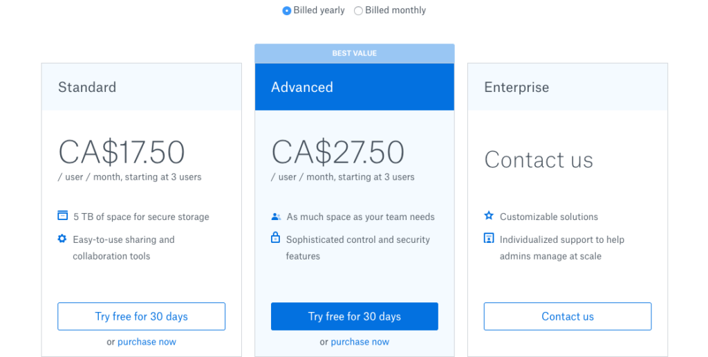 Dropbox is used to store files in a centralized location