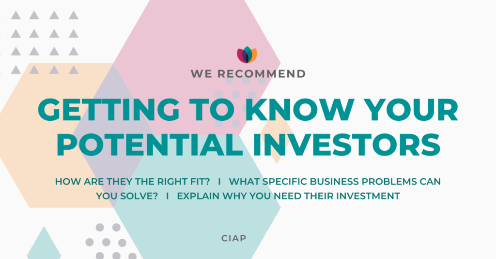 Get to know potential investors