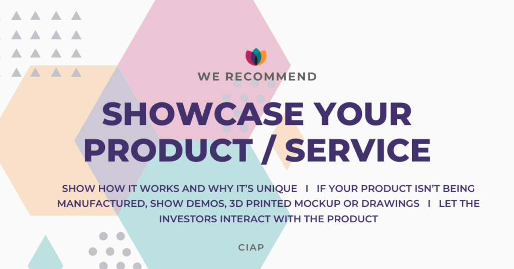Demo your product or service