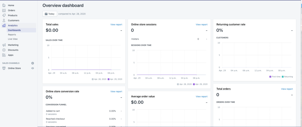 Track your analytics online
