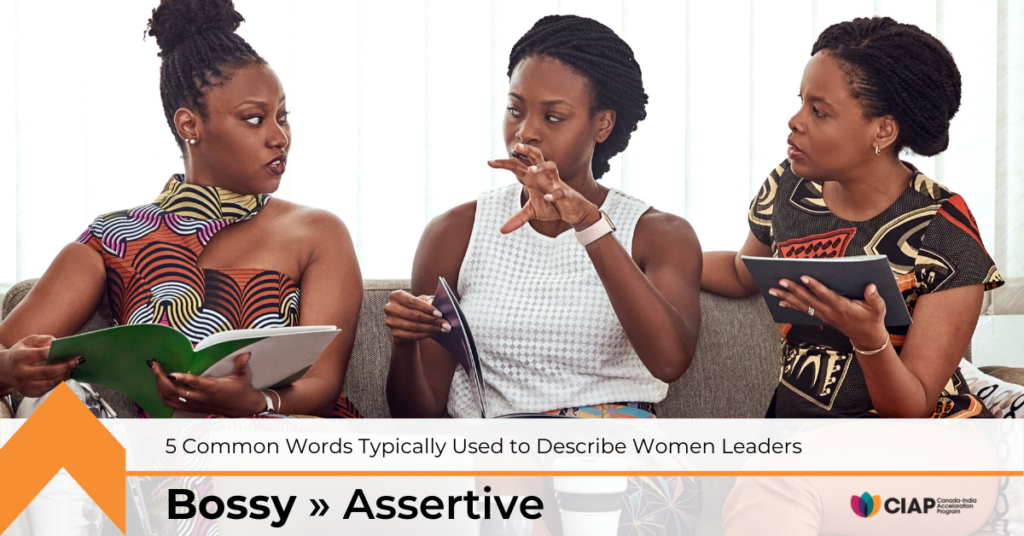 Replace bossy with assertive to help shift gender biases and stereotyped narratives.
