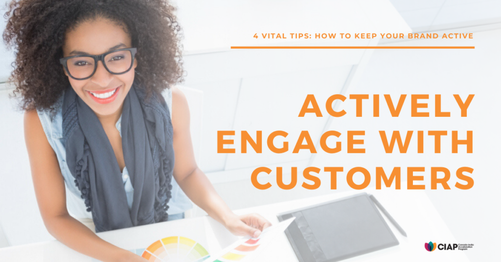Engage with customers online