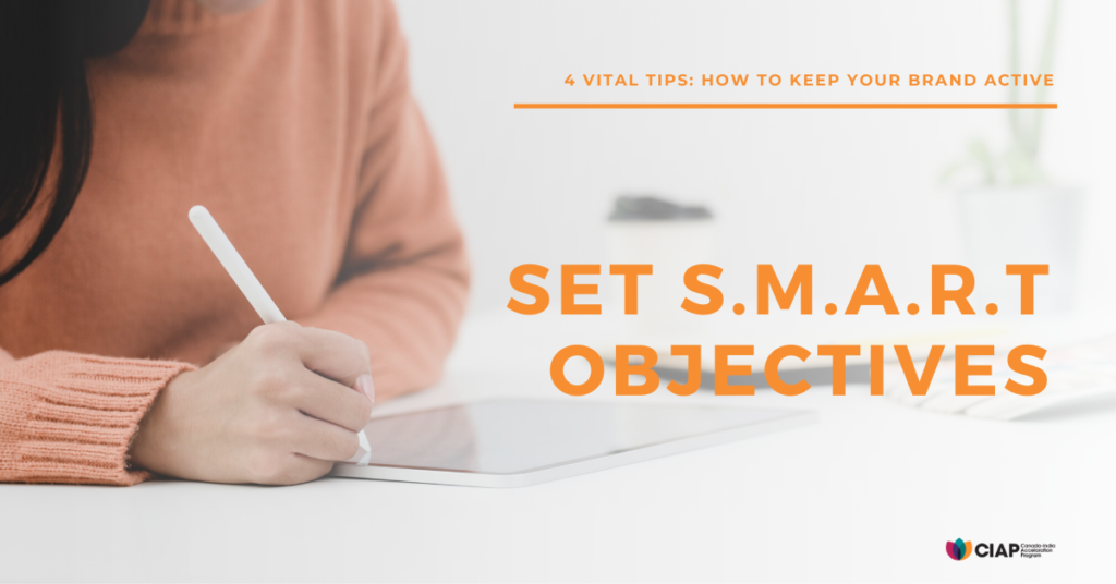 SMART Objectives help define goals