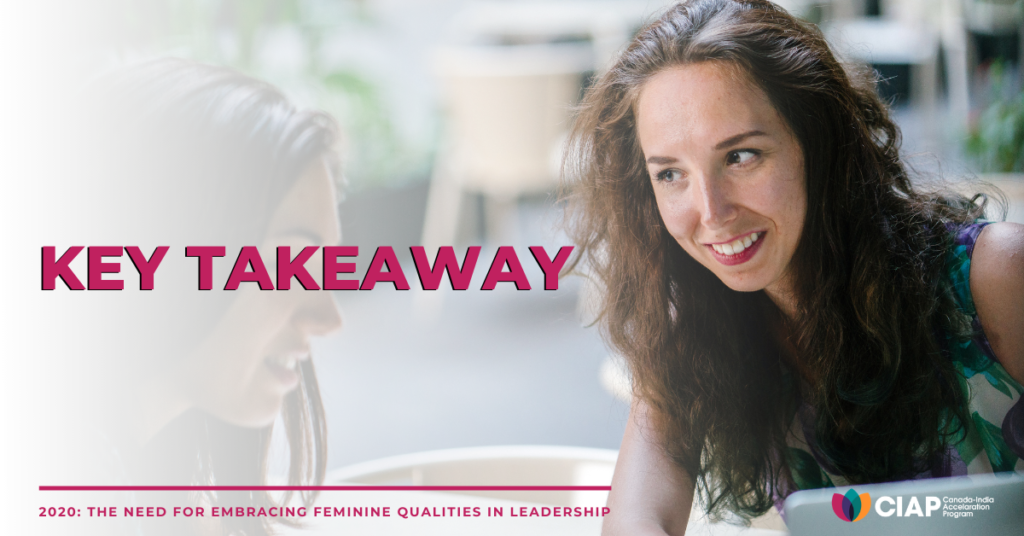 Key takeaway on feminine leadership qualities